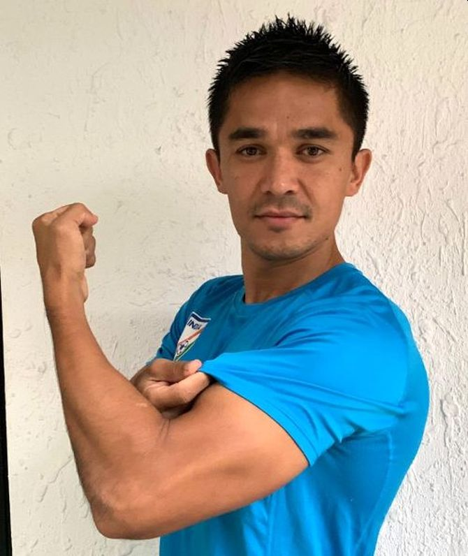 India football captain Sunil Chhetri spoke while featuring in AFC's 'Break the Chain' campaign
