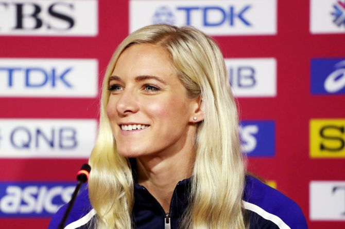 "American steeplechaser and 2016 Olympic bronze medallist Emma Coburn said that while there was no ""war"" with the IOC, the incident showed athletes' ability ""to speak up and say what they wanted."""