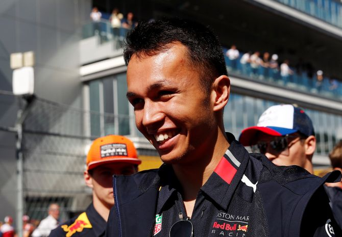 Alexander Albon, who collided with six-times world champion Lewis Hamilton on the penultimate lap of the real Brazilian race last year while running second, made no mistakes in a wheel-to-wheel race-long battle.