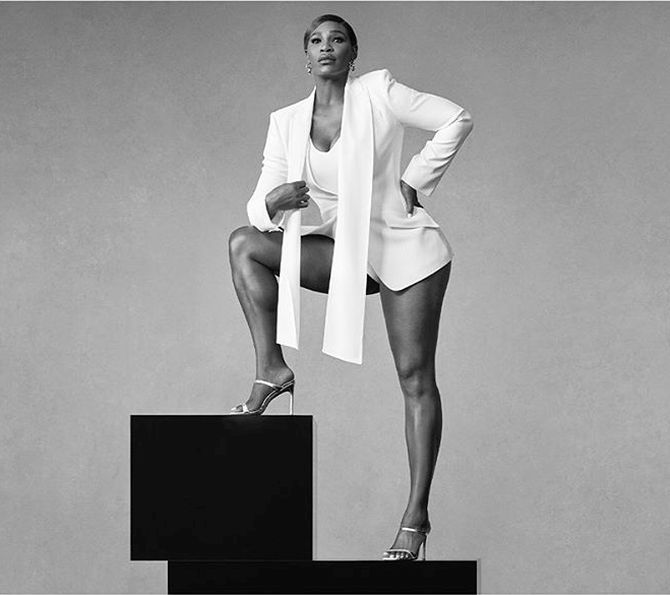 Tennis legend Serena Williams in ad campaign for New York-based shoe brand Stuart Weitzman