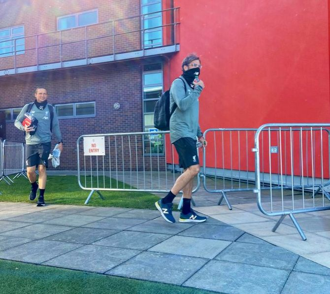 "Liverpool manager Juergen Klopp said he felt ""like a policeman, pretty much, wearing my uniform"" as he set off for Melwood, with nobody allowed to shower or change at the ground on Wednesday."