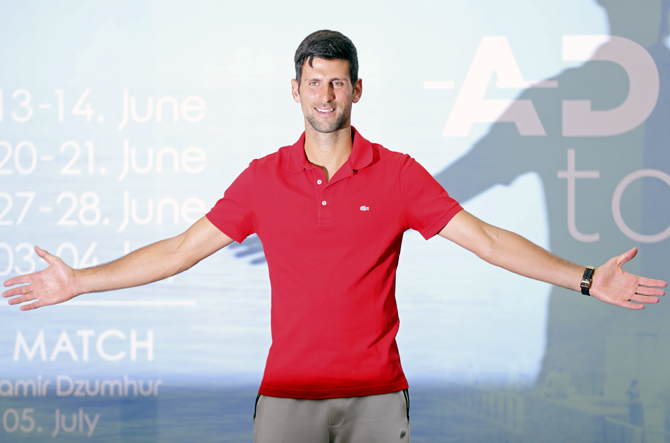 Djokovic to host tennis event after returning home