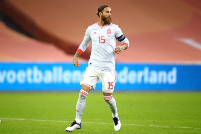 In November 2020, Sergio Ramos became Europe's most capped player but injury issues have kept him in and out of squads this season