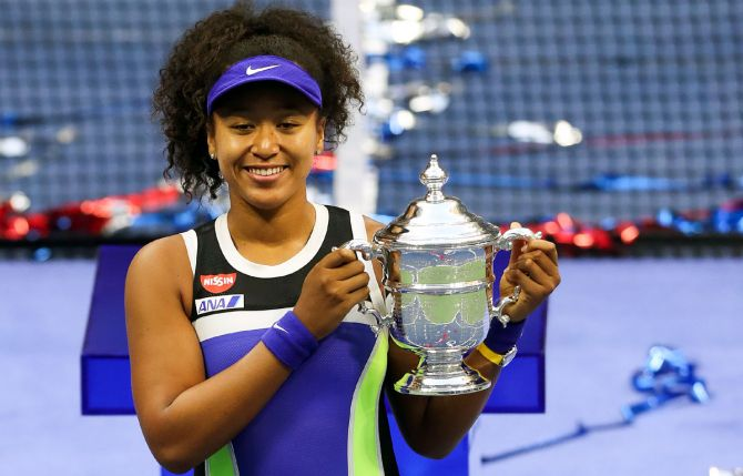 Naomi Osaka, who won the US Open on Saturday was the only player in the top-10 to gain places.