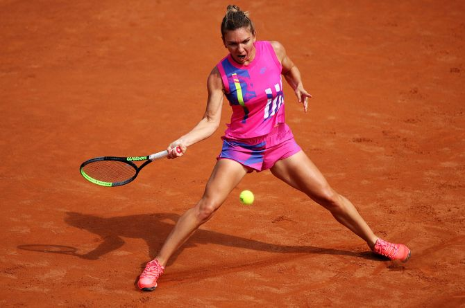 Simona Halep is recovering from a calf injury