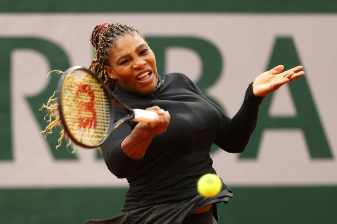 Serena Williams needed five match-points to seal the victory over fellow-American Kristie Ahn.