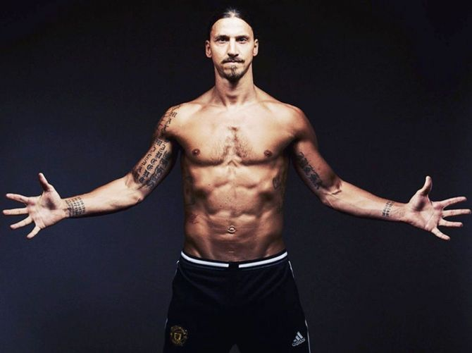 Swedish footballer Zlatan Ibrahimovic
