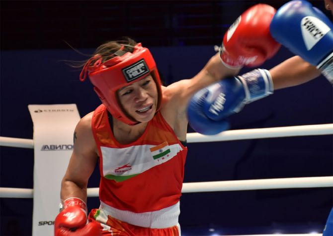 Olympic bronze medallist MC Mary Kom mostly trained at home in 2020