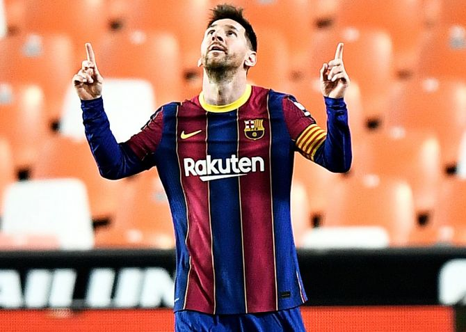Messi's last contract, signed in 2017, was the most lucrative in world sport according to a January report in newspaper El Mundo.