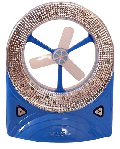 Rechargeable Fan with LED Torch
