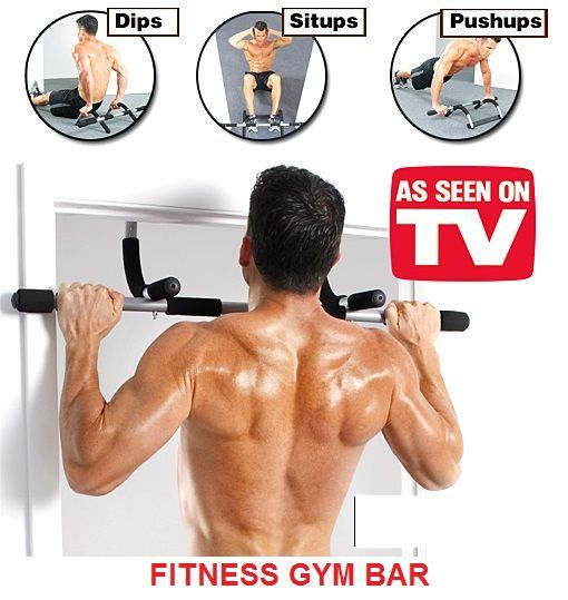 Fitness Door Gym Bar For Pull Ups, Push Ups, Dips & Sit Ups