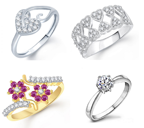 Beautiful Heart rings for your lady luck