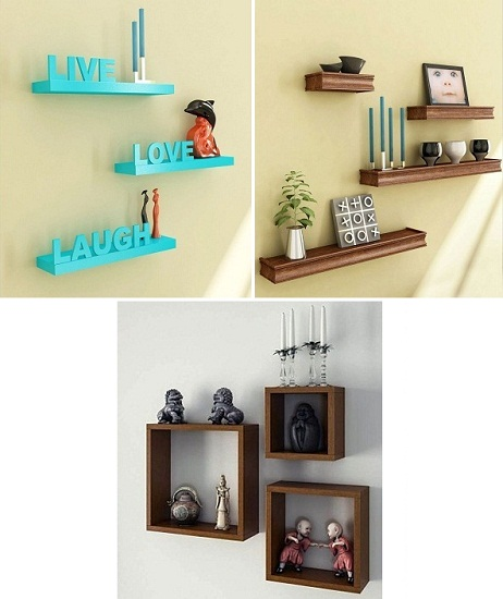Wooden Shelves Wall Racks
